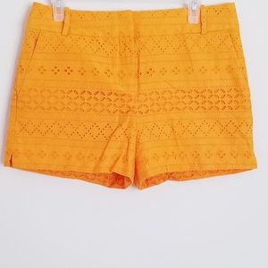 NWT Yellow Lace Overlay Loft Riviera Short